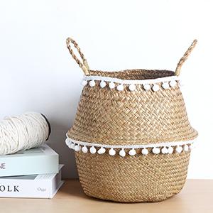 BlueMake Woven Seagrass Belly Basket