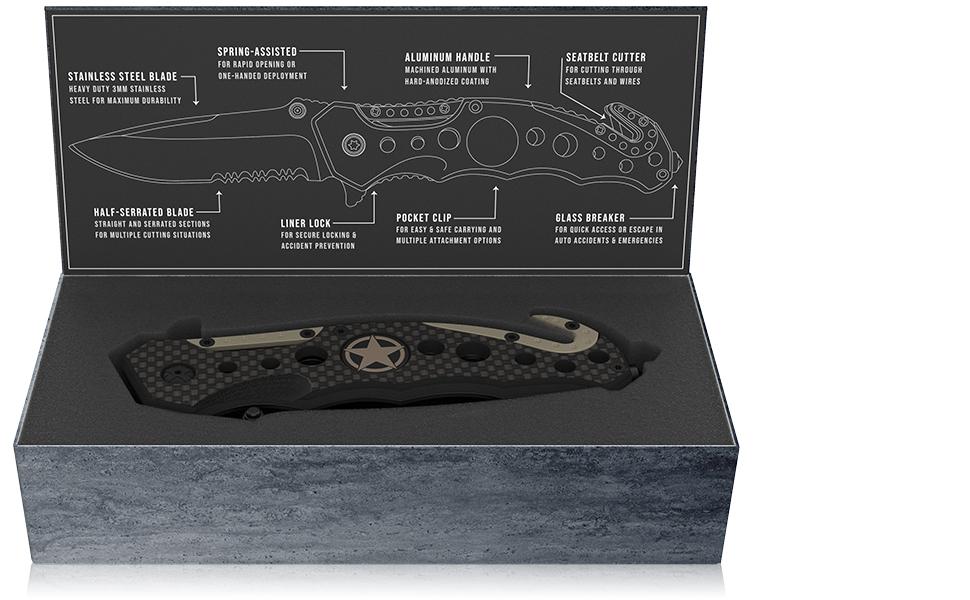 Carbon Fiber knife gift box packaging