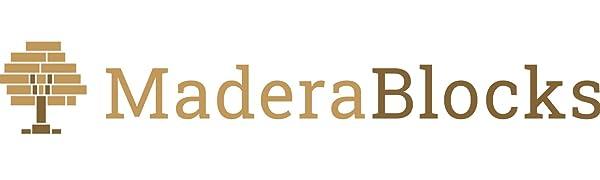 MaderaBlocks, Bauklötze, Holzbauklötze, Holzbausteine natur, Holzklötze