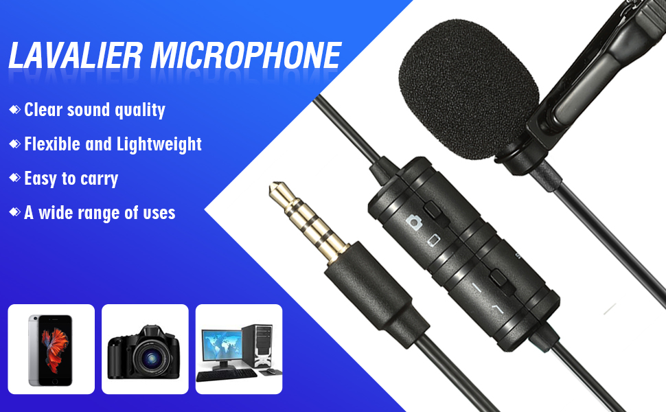 clip lavalier microphone for cameras