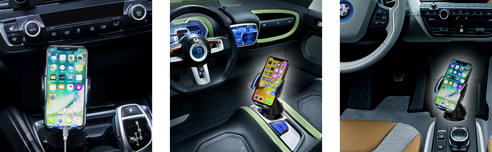 cup holder phone mount for car