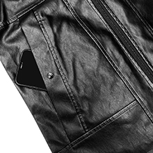 faux leather jacket for men casual zip up bomber lightweight motorcycle PU outwear coat vintage hood