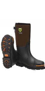 TideWe Work Boots with Steel Toe & Shank