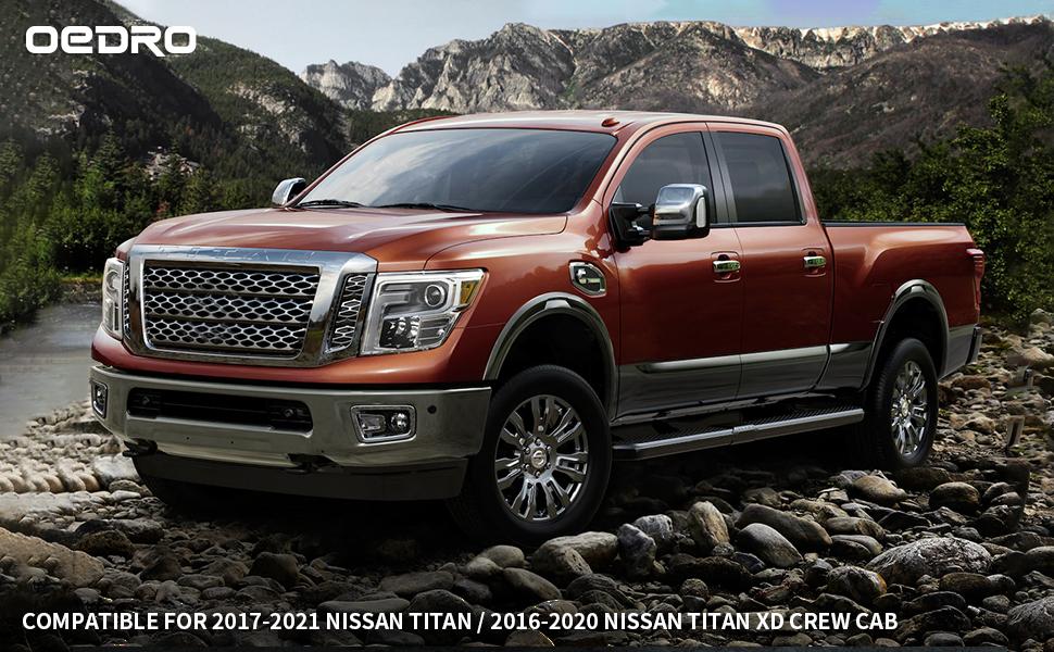 EDRO Floor Mats Compatible for 2017-2021 Nissan Titan / 2016-2020 Nissan Titan XD Crew Cab