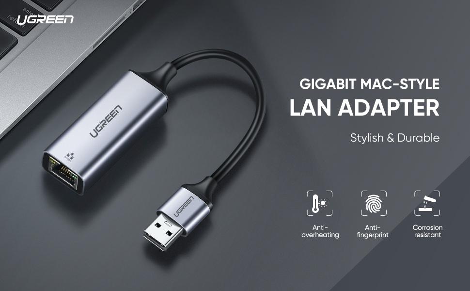 UGREEN Ethetnet Adapter Gigabit Lan Adapter USB 3.0 to Network RJ45 Adaptor 1000Mbps