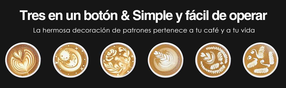 Aicok Espumador // Batidor de leche El/éctrico cappuccino Calentador y Espumado para caf/é Vaporera de leche de doble pared de Acero Inoxidable latte
