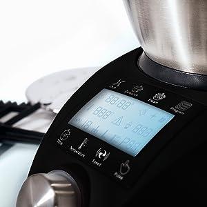 IKOHS CHEFBOT Compact - Robot de Cocina Multifunción, Compacto, Cocina al Vapor, 23 Funciones, 10 Velocidades con Turbo, Bol de Acero Inoxidable 2, 3 L, Libre BPA (con Recetario - Negro): Amazon.es
