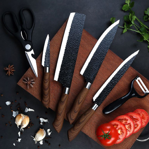 Amazon.com: 6 Pieces Professional Kitchen Knives Set With Giftbox, High  Carbon Stainless Steel Forged Kitchen Knife Set, Sharp Chef Knife Set For  Chef Cooking Paring Cutting Slicing: Kitchen & Dining