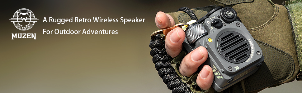 A Rugged Retro Wireless Speaker For Outdoor Adventures