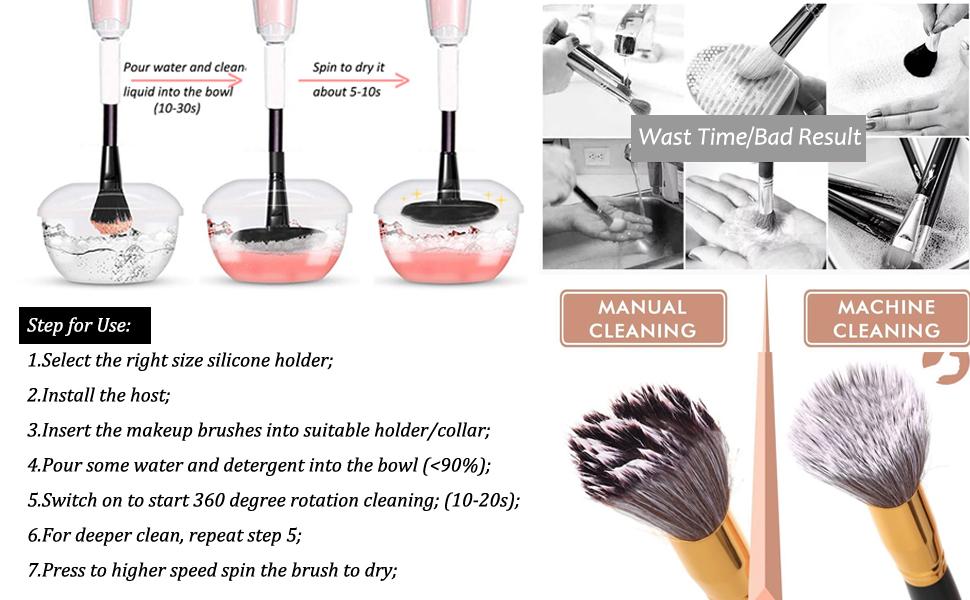 secador del limpiador del cepillo del maquillaje