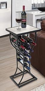 wine table rack