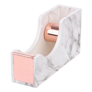 heavy duty tape dispenser desktop standard size marble white desktop supplies office gift