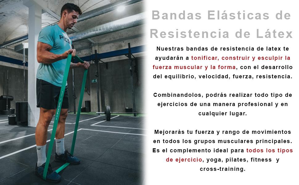 PicSil Banda Elástica de Resistencia Banda Elástica de Ejercicios Cintas Elásticas Gimnasia Fitness Crossfit