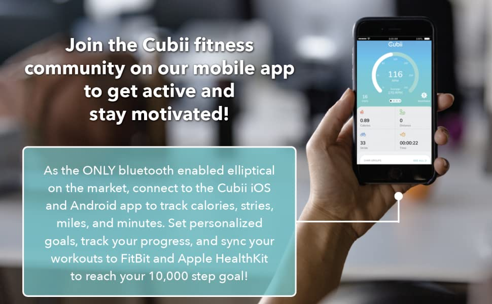 Join the Cubii fitness community on our mobile app to get active and stay motivated!