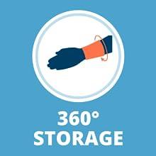 Wrist Locker 360 Degree Storage