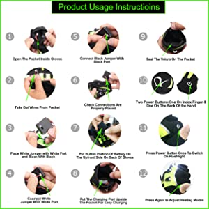 Led Flash Light Gloves Glowing Fishing Gloves Outdoor Sports Luminous Gloves for Fishing Camping Hiking Outdoor Activities black-without Battery