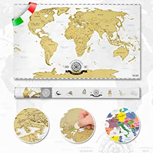 Cartina Mondo Lego.Goods Gadgets Raschia Via La Mappa Del Mondo Da Grattare Oro Xxl Scratch Off World Map 82 X 45 Cm Graffio Mappa Deluxe Murale A Parete Italiano Amazon It Casa E Cucina