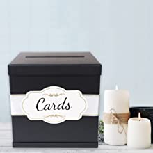 Weddings or Funerals - Black Card Box is Versatile for any Occasion