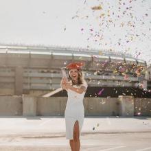 graduation confetti graduate girl