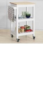 SoBuy Carrello portavivande Carrellino Cucina salvaspazio in Legno massello di bamb/ù Portata Fino a 45 kg FKW34-B-N