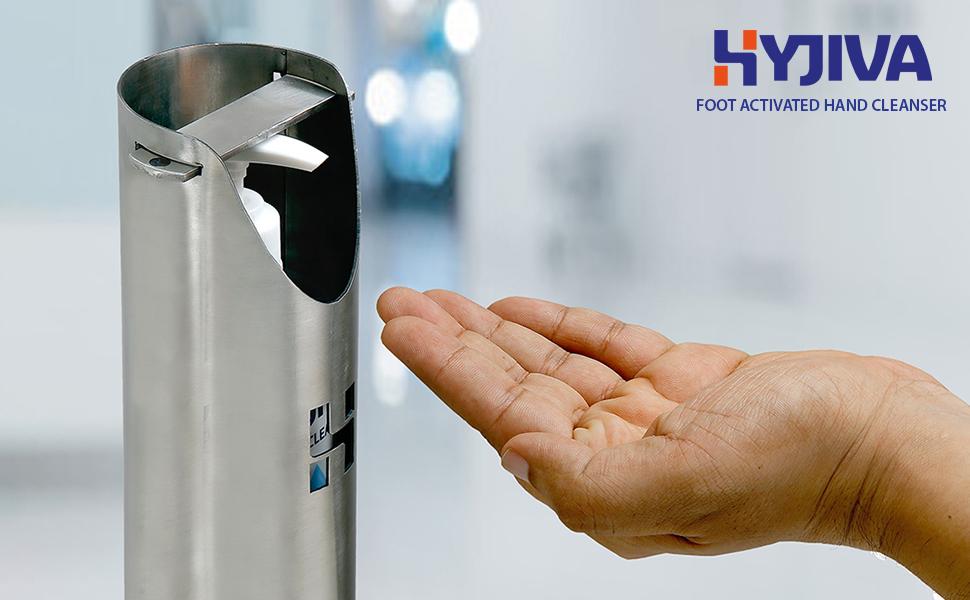 hyjiva foot operated sanitizer dispenser