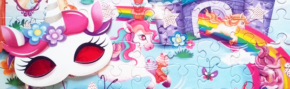 Chalk and Chuckles I love Unicorns Secret Message Puzzle 100 pcs for girls Ages 5+ to 12 years