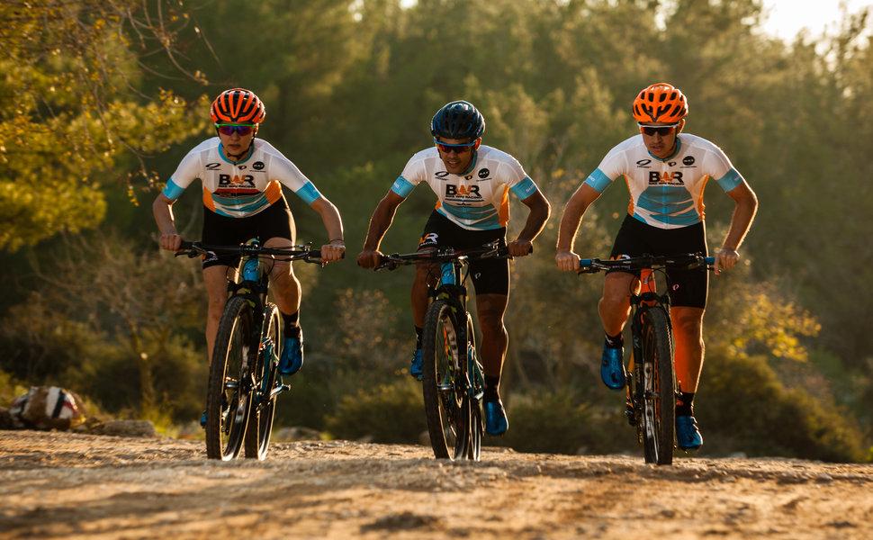 Three guys riding