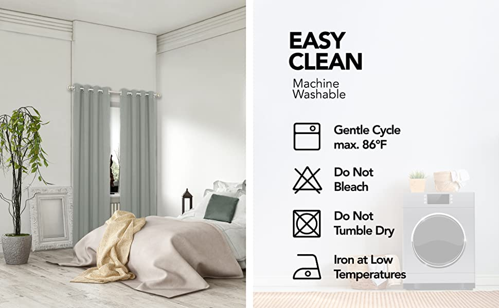 dark grey total blackout curtains for bedroom living room gray curtains sliding glass door
