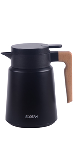 34 oz coffee carafe, carafe for ice drink, carafe for cold, keep hot,black coffee carafe