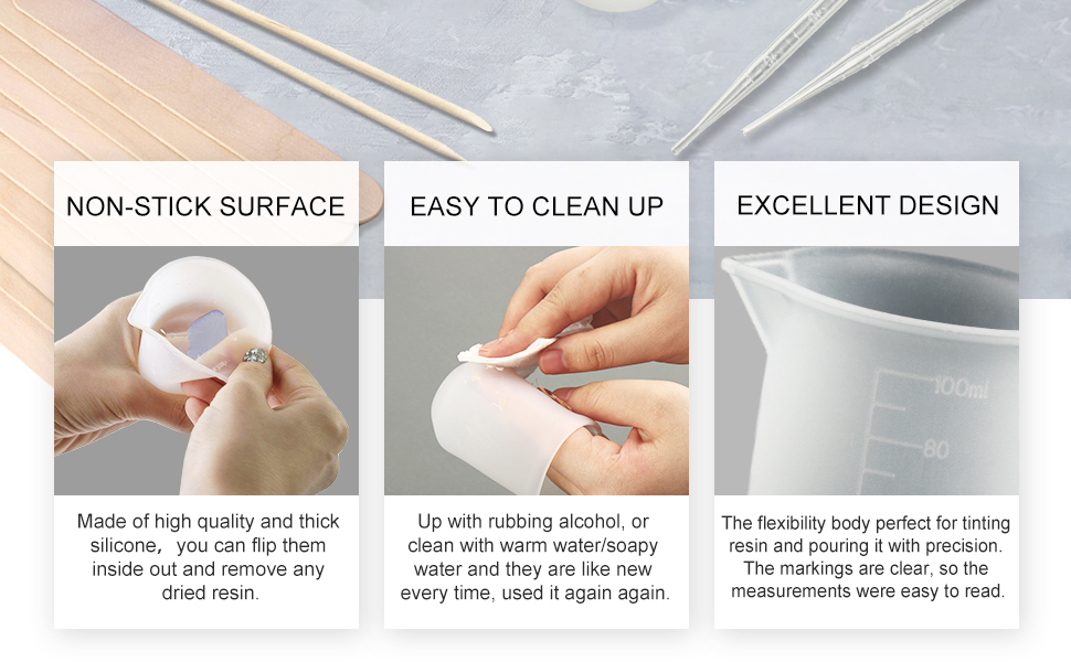 silicone cups for resin