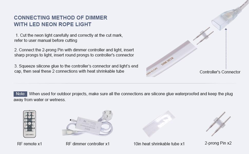 dimmer for neon rope light