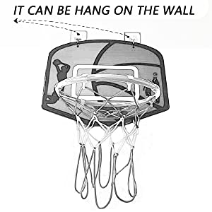 Hang on the wall basketball hoop