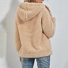 sherpa hoodie women