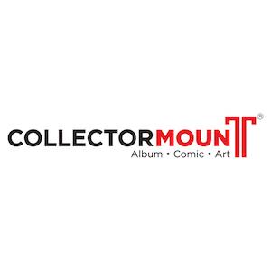 collector mount banner, album mount, comic mount, dvd mount, cd mount, card mount, wall, shelf
