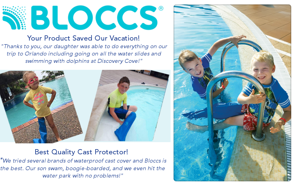 Bloccs Waterproof leg cast swim shower bath