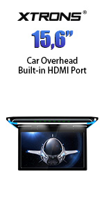 car overhead roof mount monitor dvd player