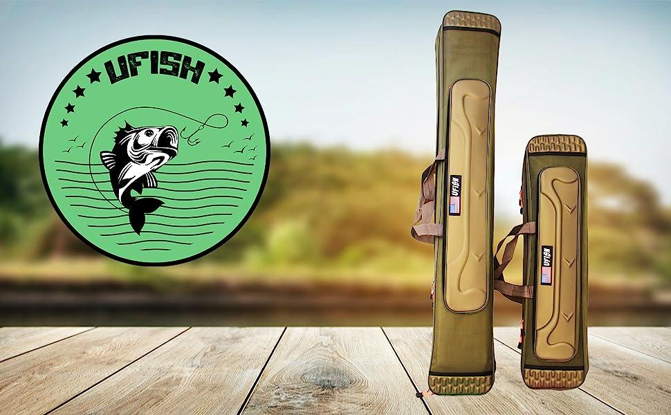 Ufish travel fishing pole case