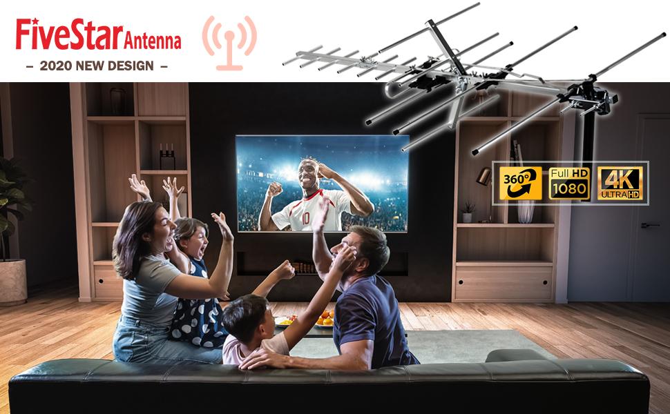 Five Star TV Antenna Outdoor Yagi Satellite HD Antenna