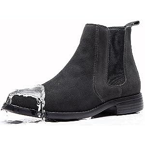 waterproof suede chelsea boots