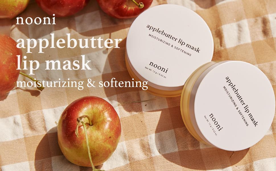 nooni, applebutter lip mask, laneige lip mask, overnight lip mask, sleeping lip mask, lip balm