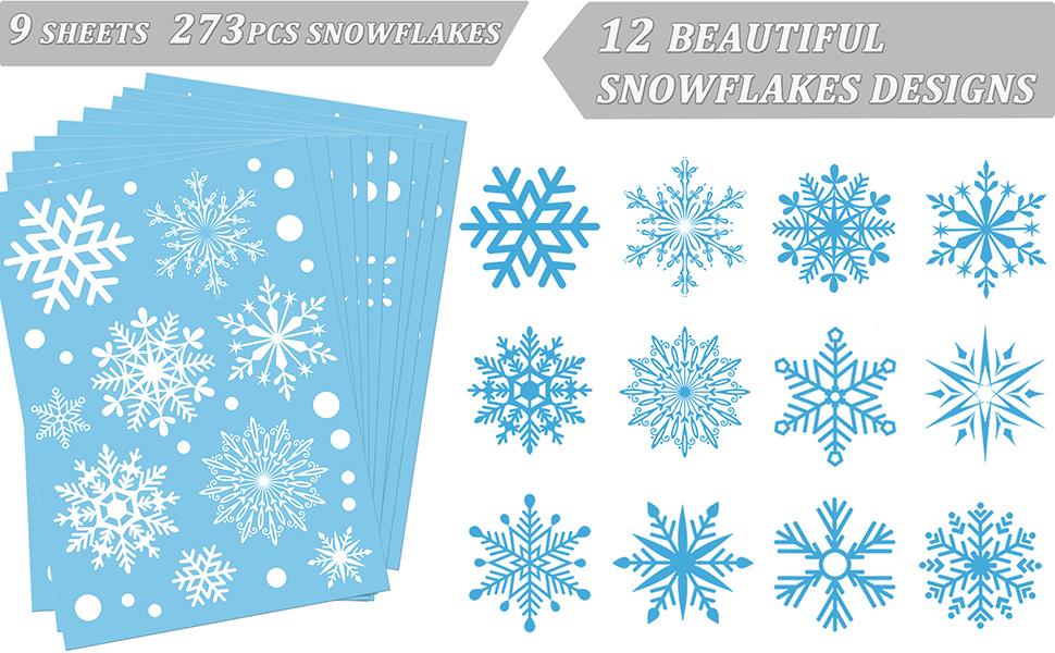 beautiful snowflake stickers 9 sheets