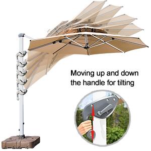 10ft heavy duty patio umbrella beige