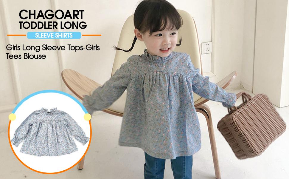 Toddler Long Sleeve Shirts Girl-Baby Girls Long Sleeve Tops-Girls Tees Blouse…