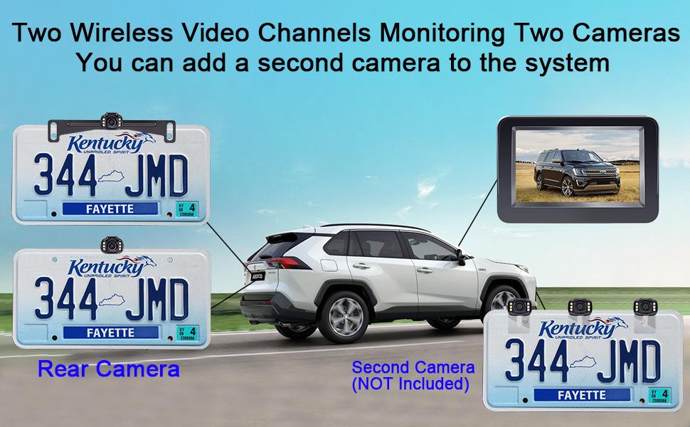 Two wireless video channels
