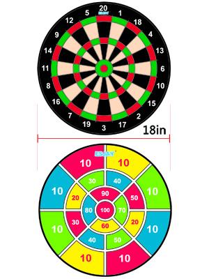 double-sided dartboard