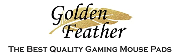 Golden Feather Mouse Pads