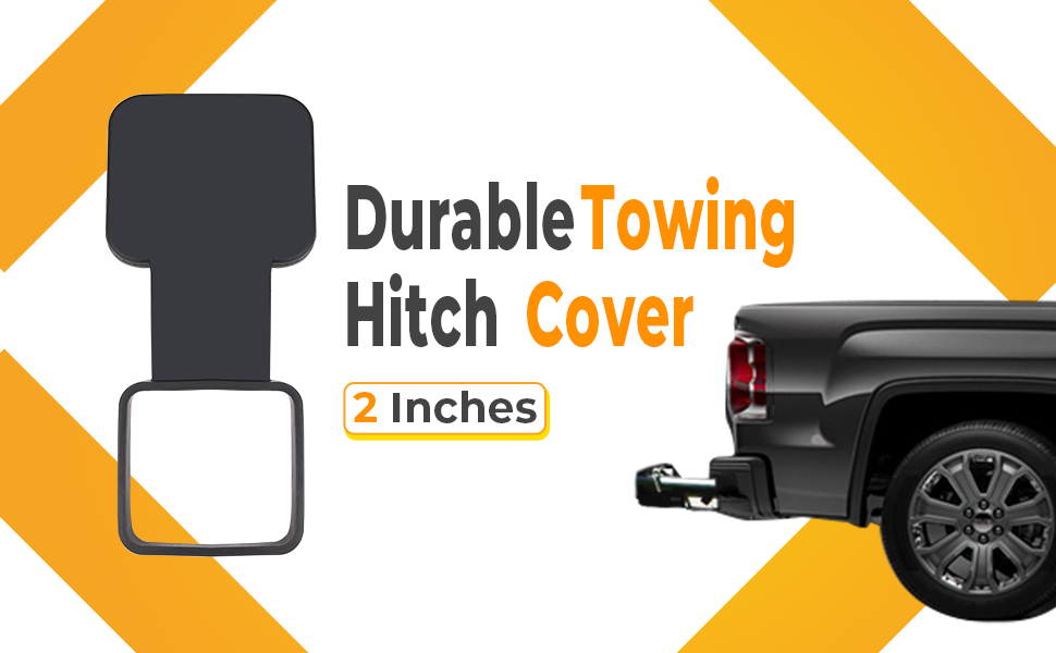 BougeRV 2 INCHES TRAILER HITCH COVER TUBE