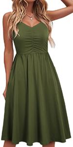 casual dress for summer dress with pockets sundress cotton women dresses graduation beach dress for