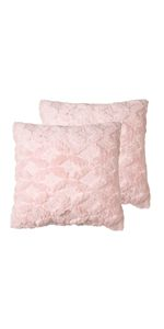Plush Embroidered Pillow Cover