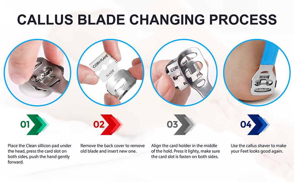 Foot Callus, Callus Shaver, Scraper Hard Skin Remover Foot Blades